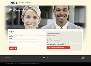 ACT website home